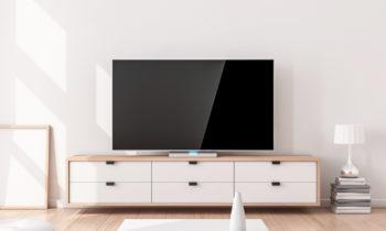 meuble TV vintage pour redonner des couleurs au salon