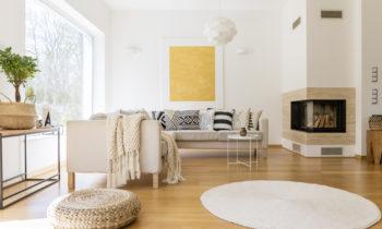 salon confortable et chaleureux